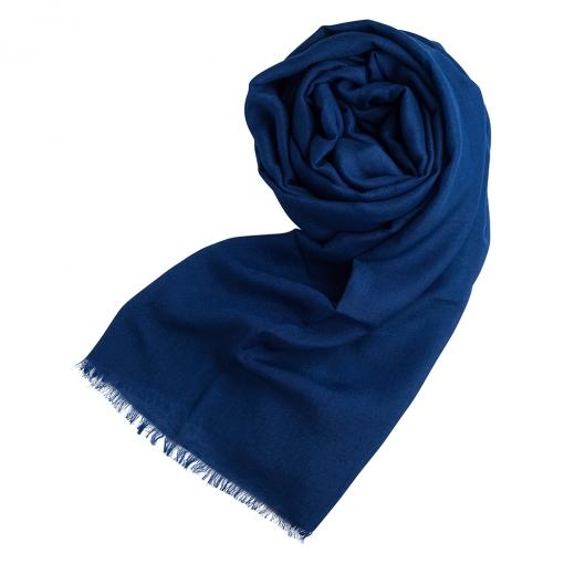 Dark blue cashmere/silk shawl