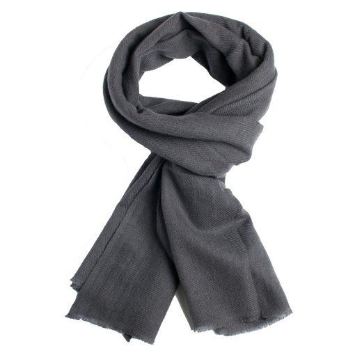 Klassisk cashmere tørklæde i grå
