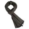 Cashmere Stole in Black/Taupe Melange
