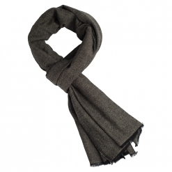Cashmere Stole in Black/Taupe Melange