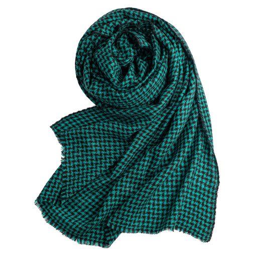 Turquoise cashmere shawl