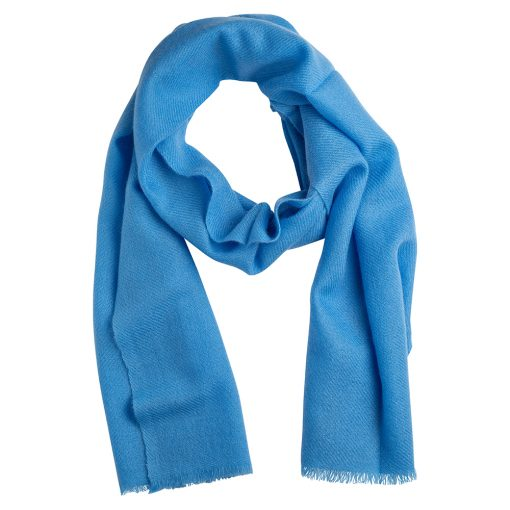 Sky blue cashmere scarf
