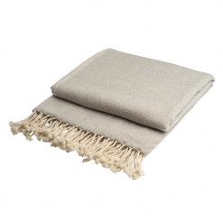 Cashmere throw grey/white