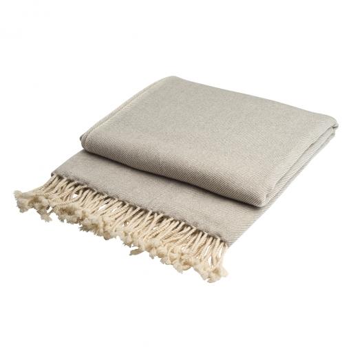 Cashmere throw grey/white
