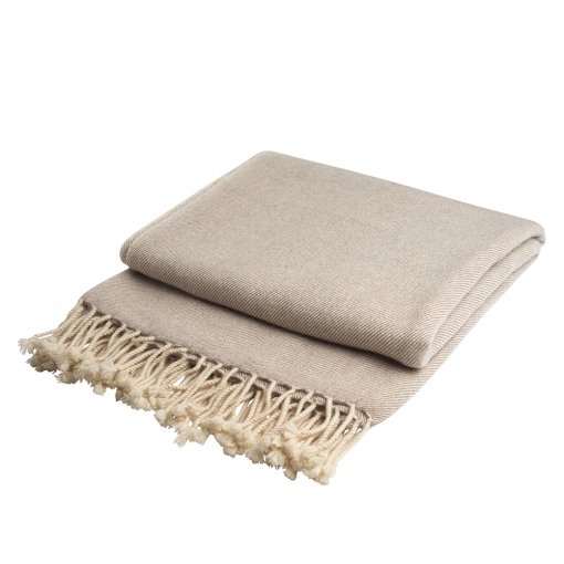 Beige cashmere throw