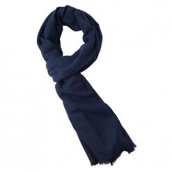 Cashmere Stole in Blue/Black Melange