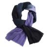 Navy/Lavender cashmere stole