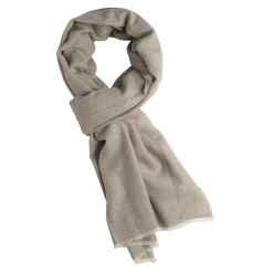 Cashmere Stole in Light Grey Melange