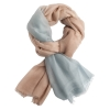 Blue and beige shaded stole
