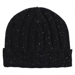 Black Neps Beanie Hat
