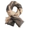 Three coloured shawl - beige and grey