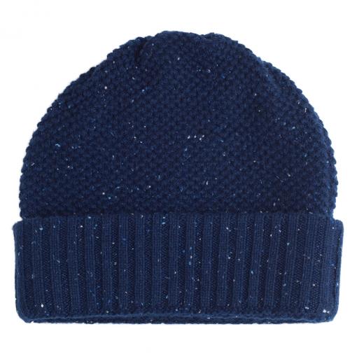 Blue neps cashmere beanie