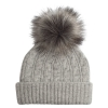 Grey Cashmere Beanie with Pom
