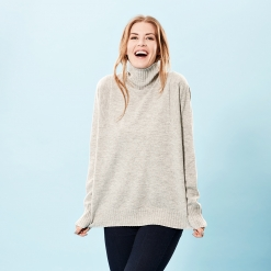Light grey oversize sweater