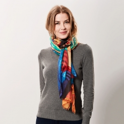 Cashmere shawl with print