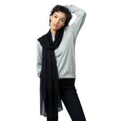 black diamond stripe cashmere stole