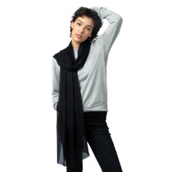 black diamond stripe cashmere stole