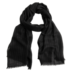 Black striped diamond stole