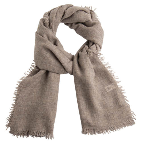 Light grey melange stole