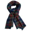 Blue tartan scarf
