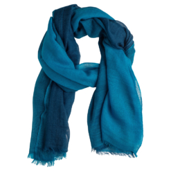 Quad shawl blue/navy