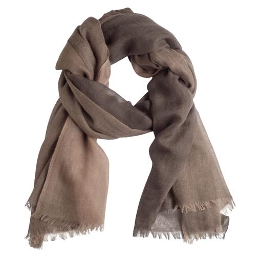 Quad shawl light/dark brown