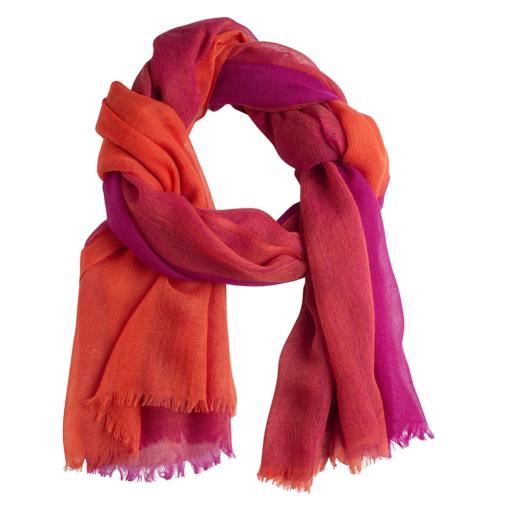 Quad shawl fuchsia/orange