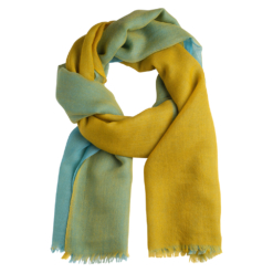 Quad stole light blue/yellow