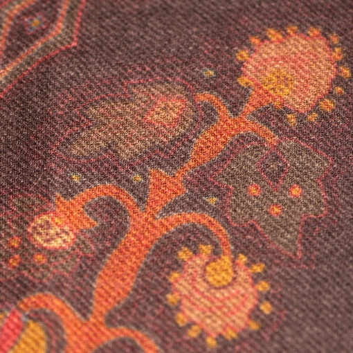 Brown paisley stole