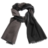 cashmere stole black/grey