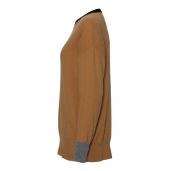 merino cashmere oversize sweater camel