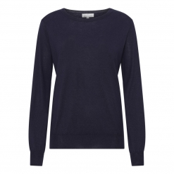 silk/cashmere sweater navy