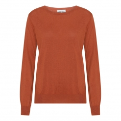 silk/cashmere sweater orange