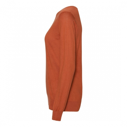 silk/cashmere sweater orange