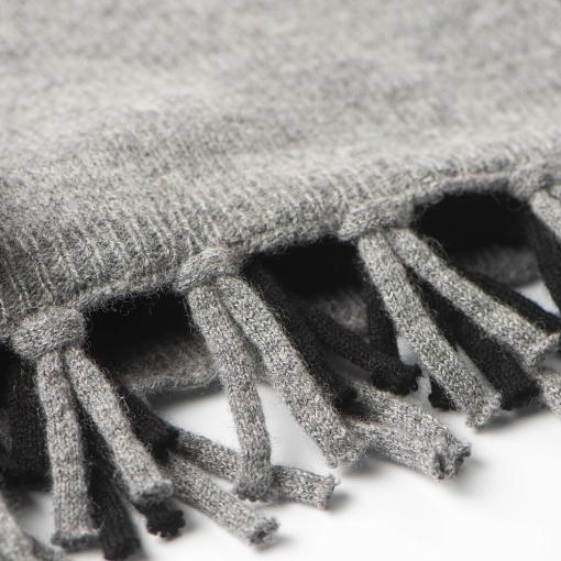 Merino/cashmere scarf - black/grey