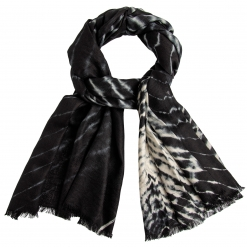 Black/white tie-dye stole