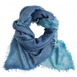 square cashmere shawl blue