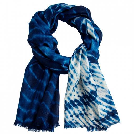Blue/white tie-dye stole