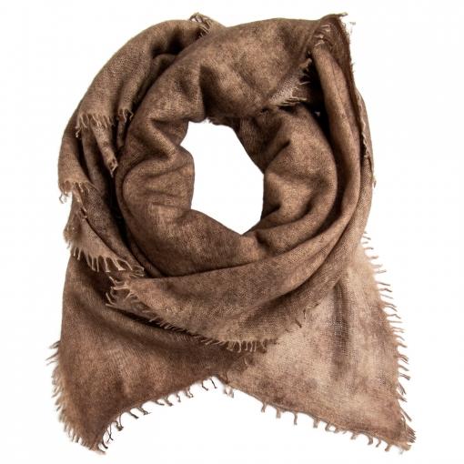 square cashmere shawl brown