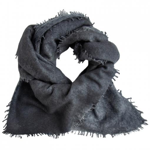 square cashmere shawl gray