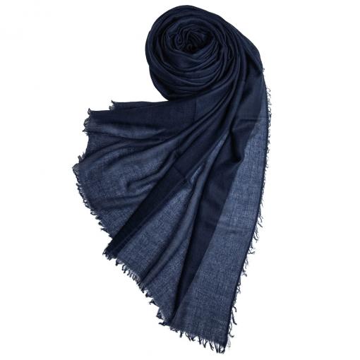 Navy cashmere shawl