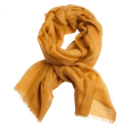 Dark golden cashmere stole